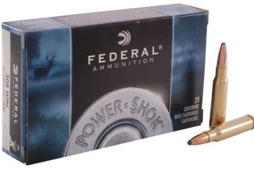 Federal 308 Win, Tlm.-Power-Shok 150 grs 20Stck