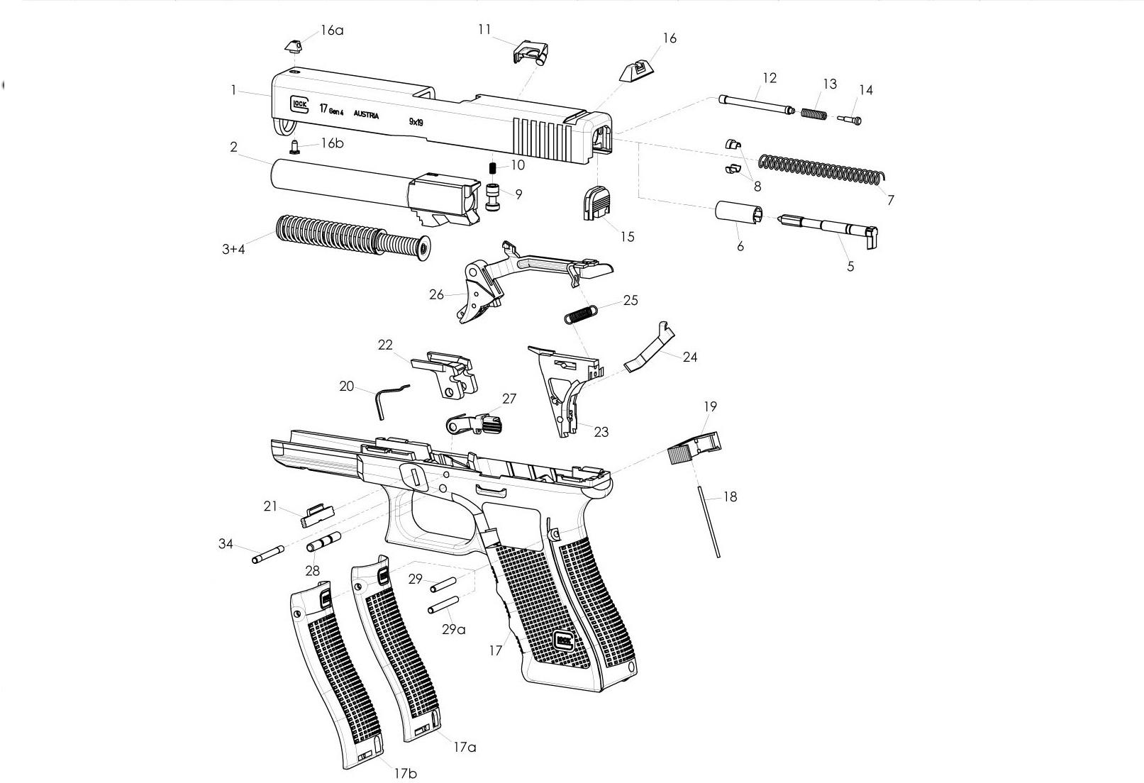 Fantastic Ersatzteile Original Alle Ersatzteile Fur Ihre Glock Wiring Digital Resources Funiwoestevosnl